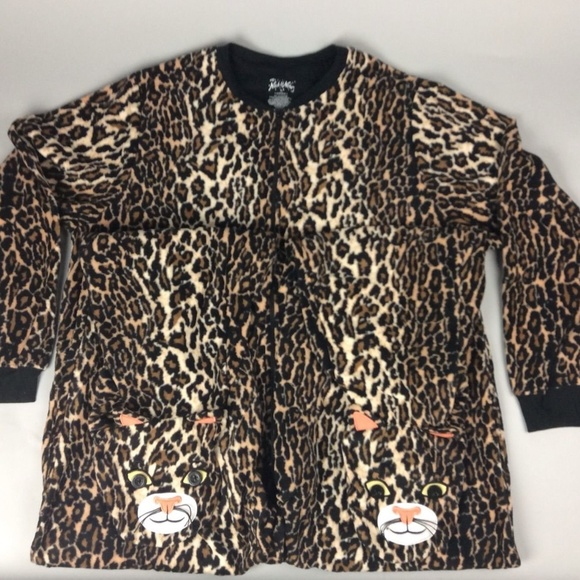 140469c02d Nick and Nora Leopard Animal Fleece Pajama Onsie